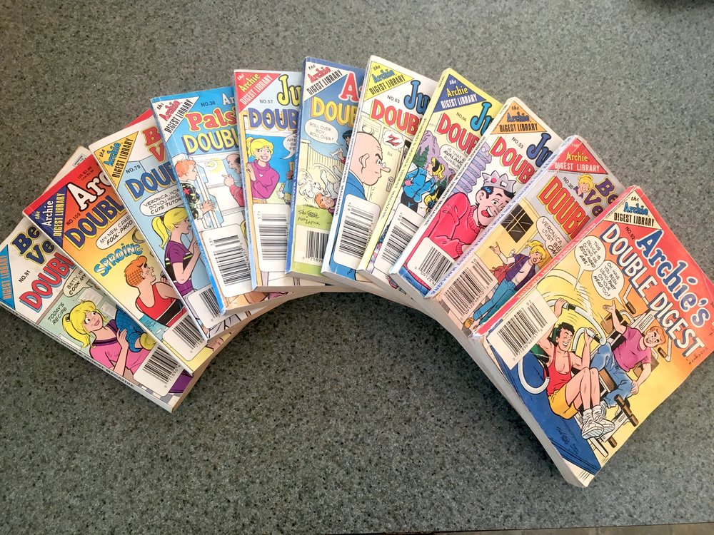 … And before everything else, there was Archie and pals. I still remember gathering up the courage to buy a comic that involved romance. Would my parents find out I was a romantic at heart?!?