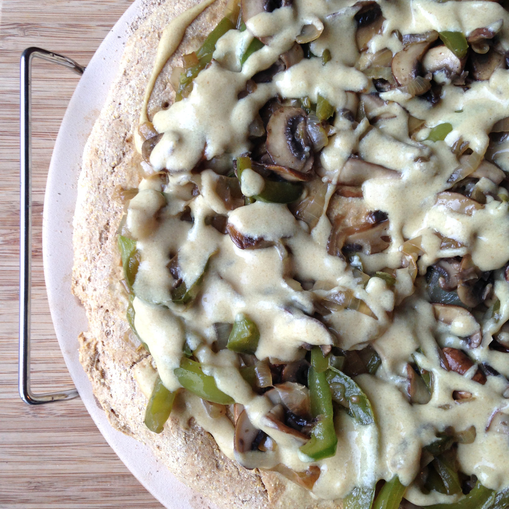 Vegan Philly Cheesesteak Pizza Recipe