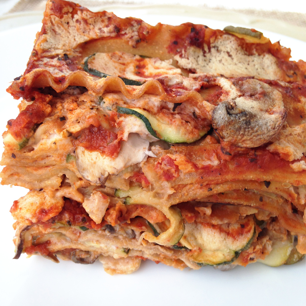 Veggie Lasagna with Vegan Cheese