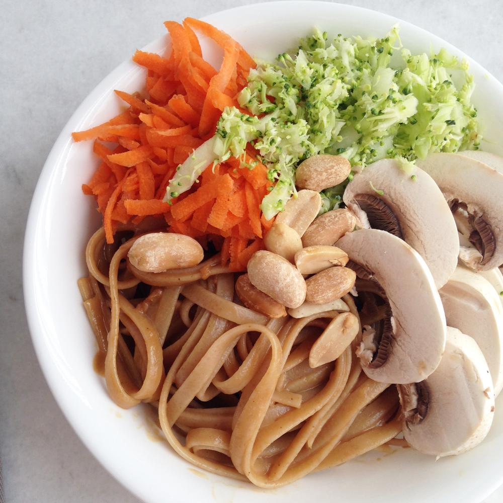 Tahini Thai Noodle and Veggie Bowl