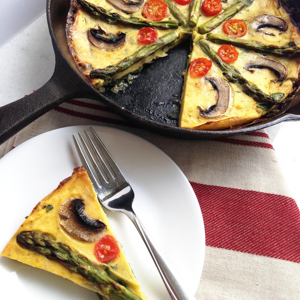 Egg-less Vegetable Frittata