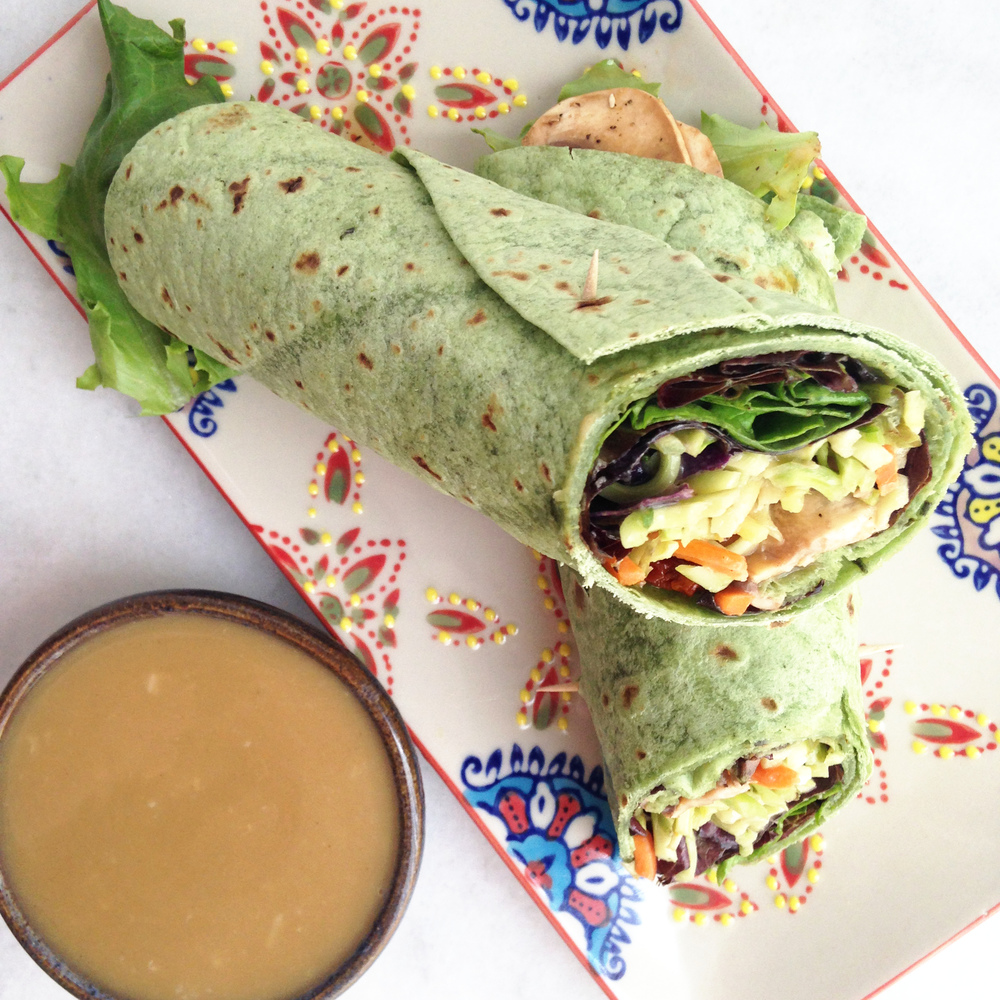 Veggie Wrap with a Tahini Dressing