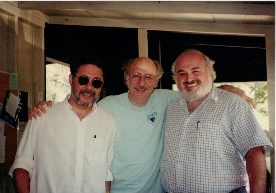 Stephen Smith and Danny with Peter Yarrow at New Folk Festival Kerrville, TX.