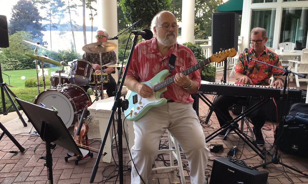 Danny, with Ron Huff and Bobby Johnson at the Old North State Country Club in New London, NC. A fun evening of classic rock,  R&B and soul music in a beautiful setting.