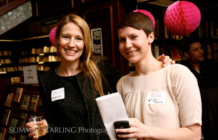 With Alison Turkos at the NYAAF 10 Year Anniversary Fundraiser, 2012