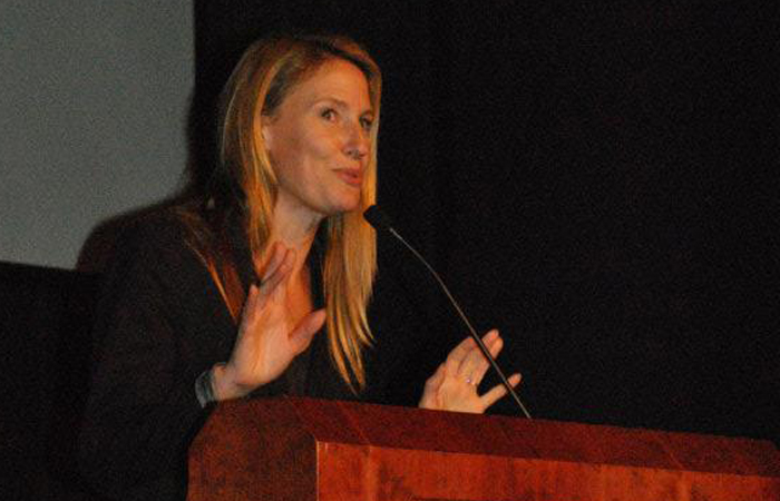 Jennifer as the 2011 OUTspoken activist-in-residence, at University of North Carolina-Charlotte