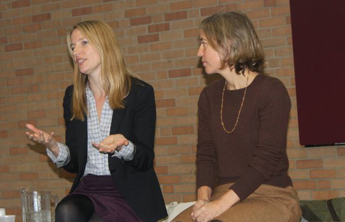 Presenting with Amy Richards at the Manifesting Feminism Conference at University of Missouri-Kansas City, November 2010
