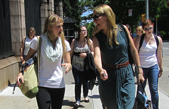 Hitting the streets with Jemma Hinkly at Feminist Summer Camp, 2012