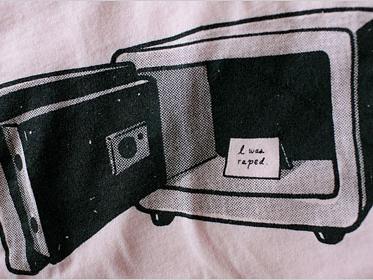 """T-Shirt: """"I was raped"""" Salon, 4/4/08"""