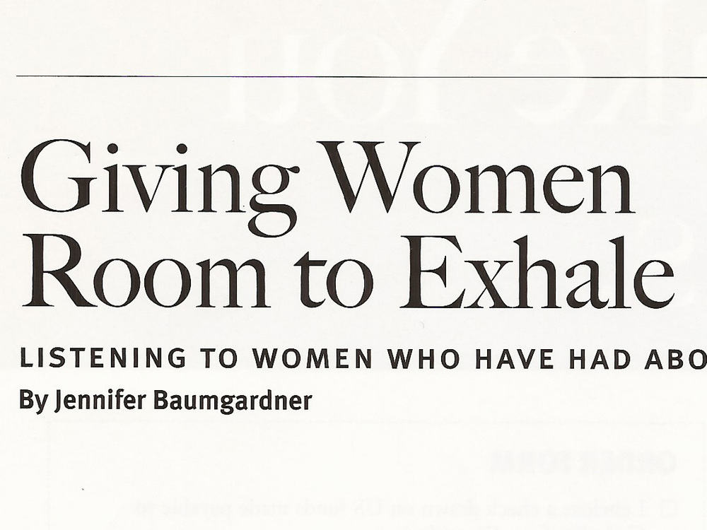 Giving Women Room to Exhale 2005