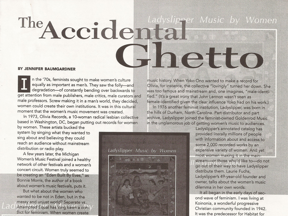 The Accidental Ghetto January 2001