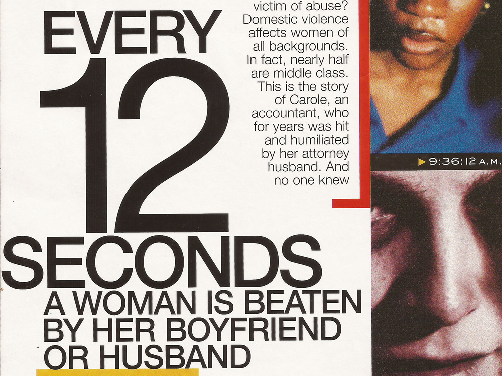 Every 12 Seconds Marie Claire, 2000