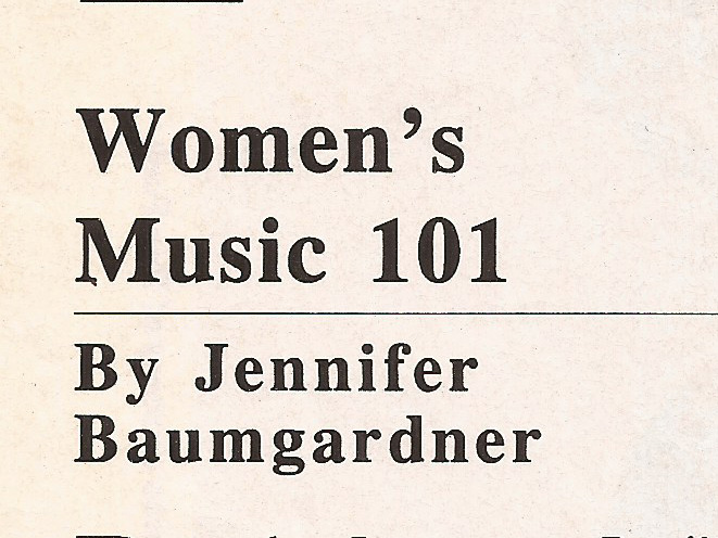 Women's Music 101 Z Magazine, September 1999