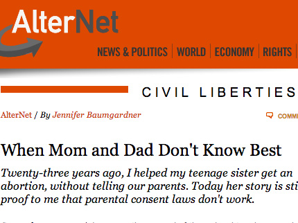 When Mom and Dad Don't Know Best Alternet, 9/28/05