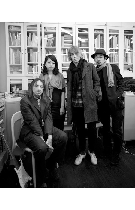 Loren Connors, Helen Homan Wu, Julien Langendorff, Hiraku Suzuki during Editquette (Armory Arts Week public event) at Printed Matter, New York 2012. Photo: Amy Mitten