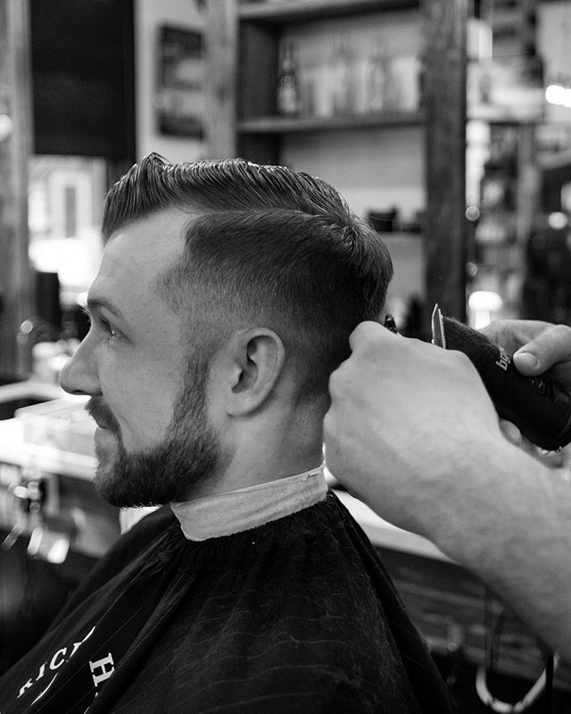 Billy with some clipper over comb work.