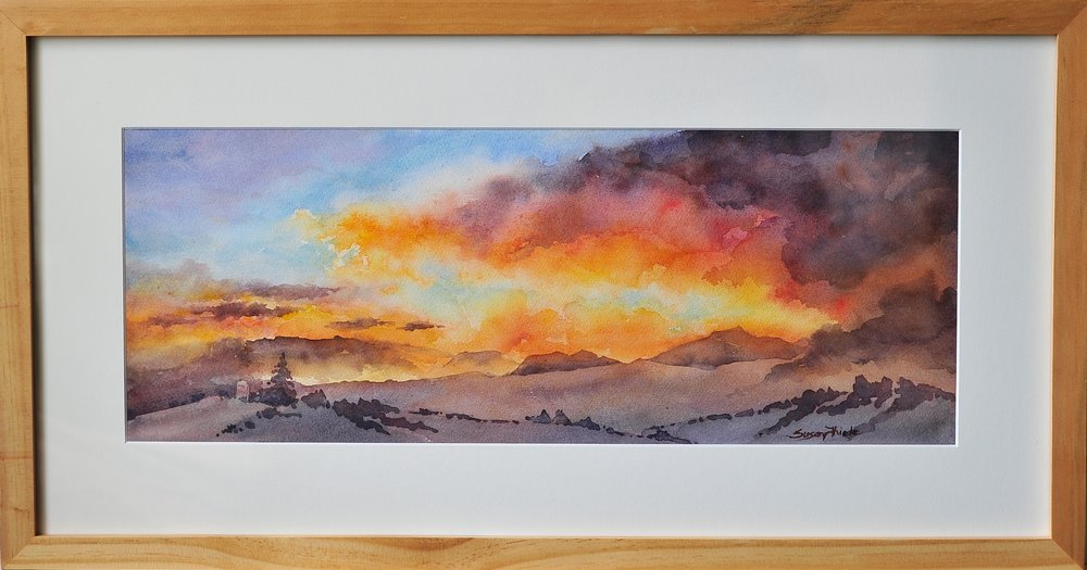 "Sunrise/Sunset Award, ""Mt. Pisgah Fairview Sunset"", Susan Thiele"