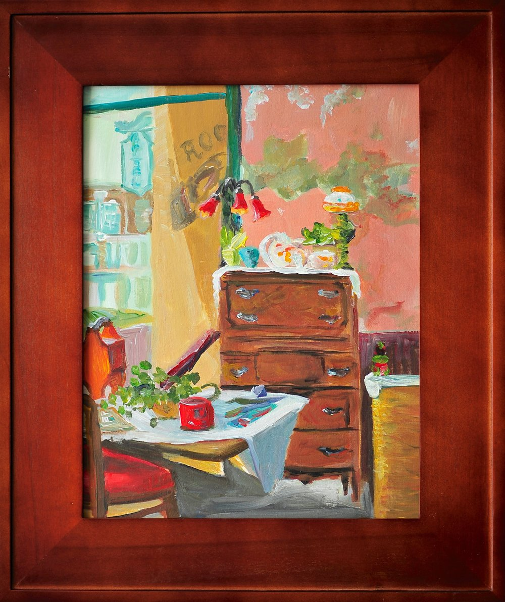 "First Place Non-Professional Award, ""Antique Corner"", Lori Ganni"