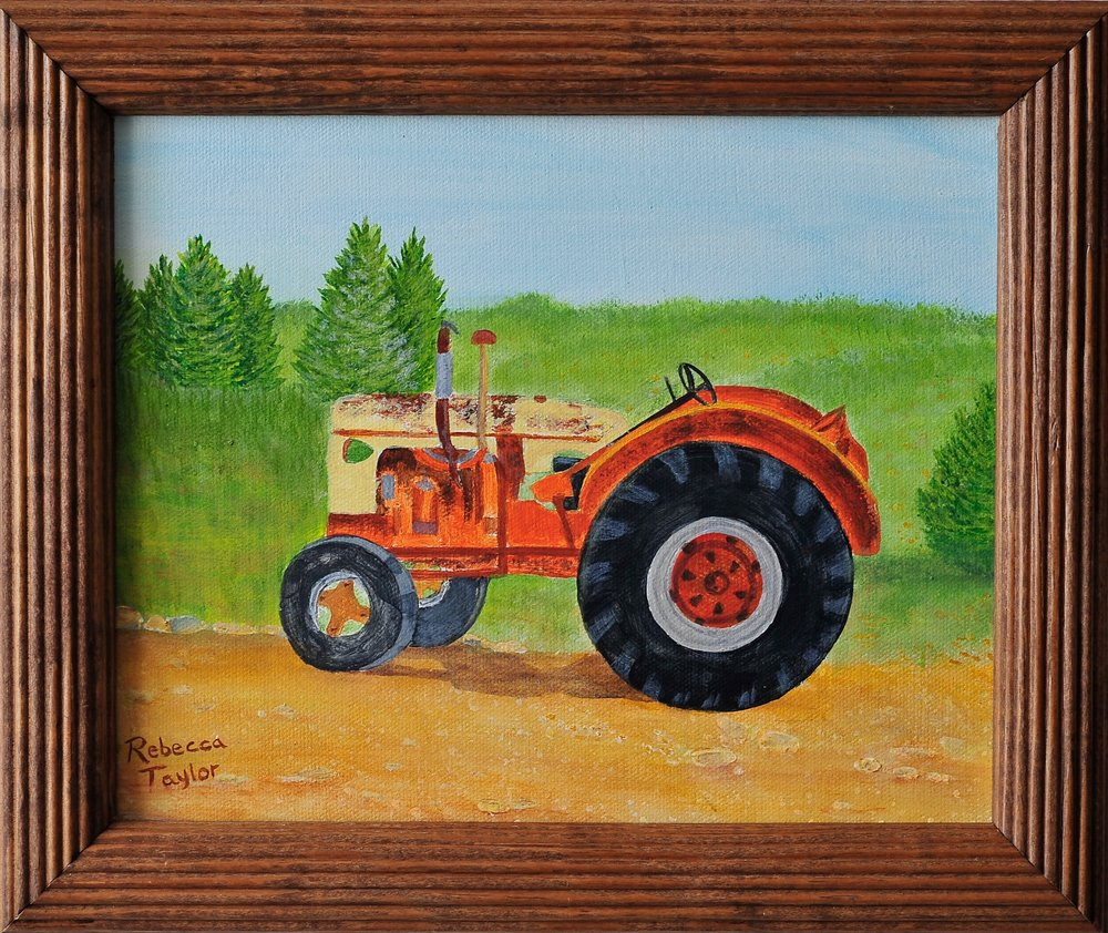 "Honorable Mention Non-Professional Award, ""Orange Tractor"", Rebecca Taylor"