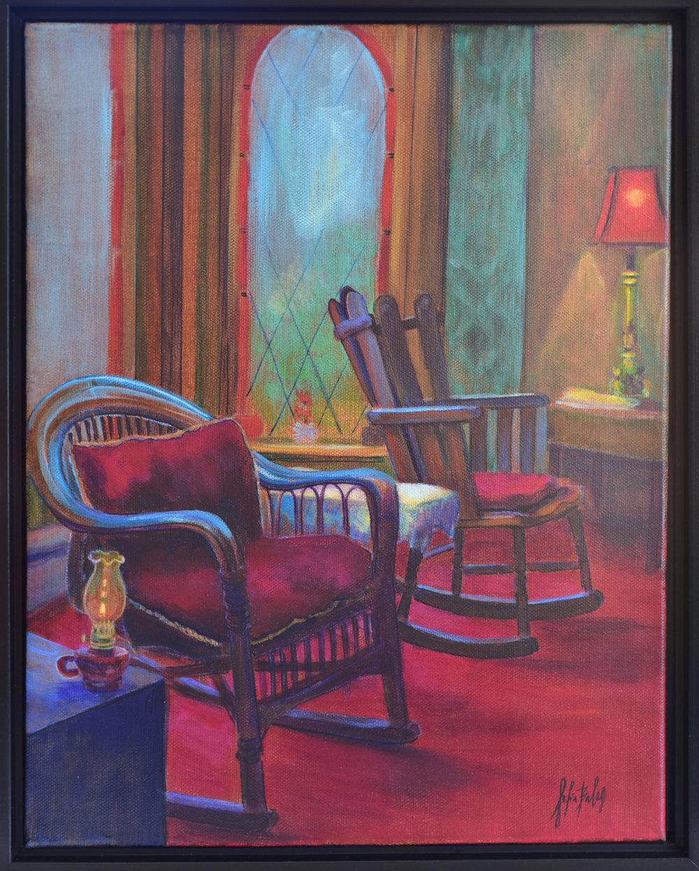 "June Bradley Interior   Sofia Balas   ""Two Chairs"""