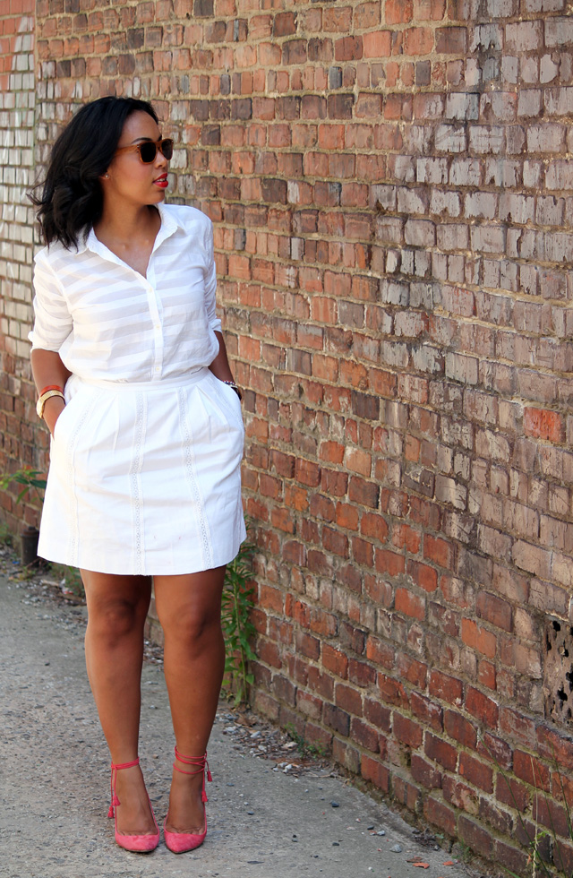 asos pencil dress in texture with peplum hem8.jpg