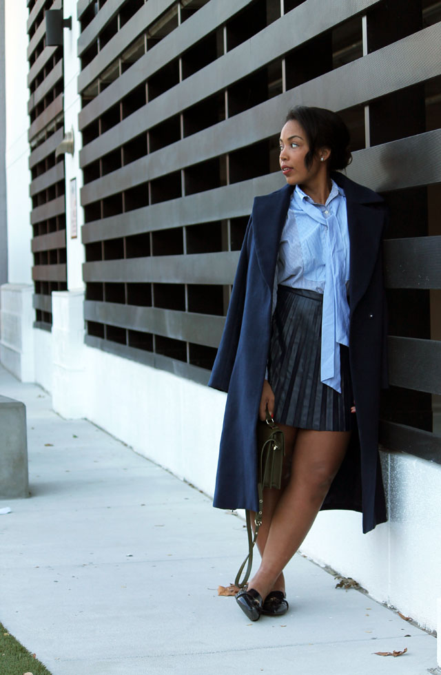 4-jcrew-navy-leather-pleated-skirt-stripe-pussybow-blouse-zara-pointed-toe-loafers-cameo-collective-true-lust-wool-coat.jpg