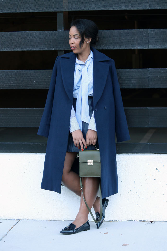 8-jcrew-navy-leather-pleated-skirt-stripe-pussybow-blouse-zara-pointed-toe-loafers-cameo-collective-true-lust-wool-coat.jpg
