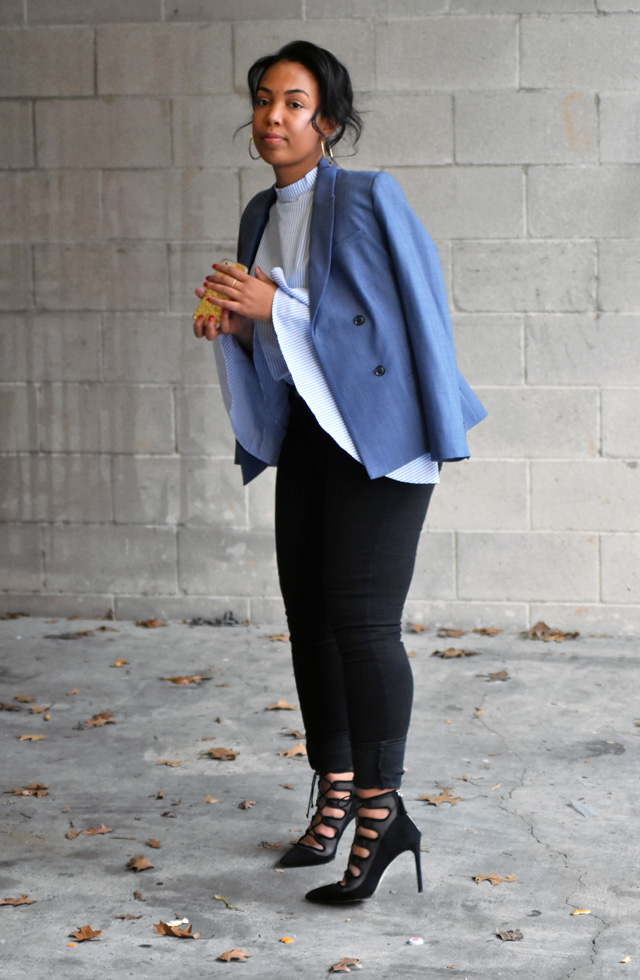 5-sheinside-bell-sleeve-stripe-blouse-old-navy-rockstar-jeans-zara-tie-up-pumps-banana-republic-chambray-double-breasted-blazer.jpg