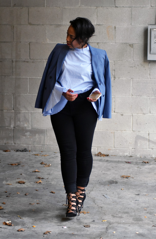 9-sheinside-bell-sleeve-stripe-blouse-old-navy-rockstar-jeans-zara-tie-up-pumps-banana-republic-chambray-double-breasted-blazer.jpg