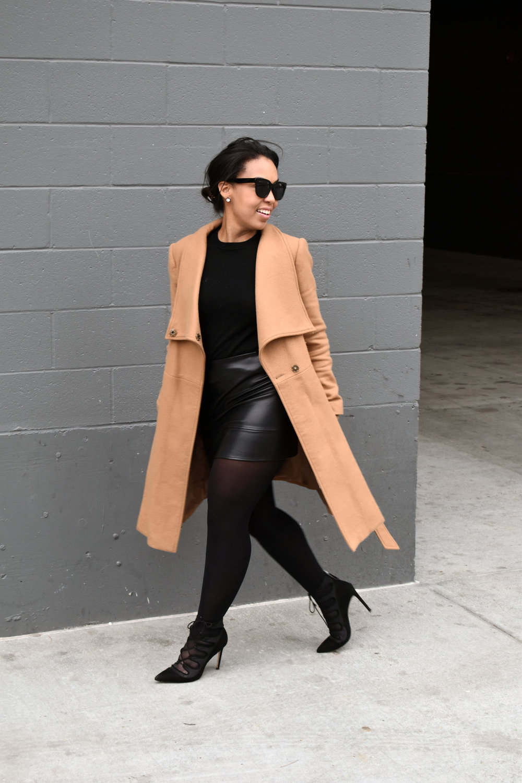 2-ASOS-leather-mini-skirt-gap-merino-crewneck-sweater-ASOS-camel-funnel-neck-coat.jpg