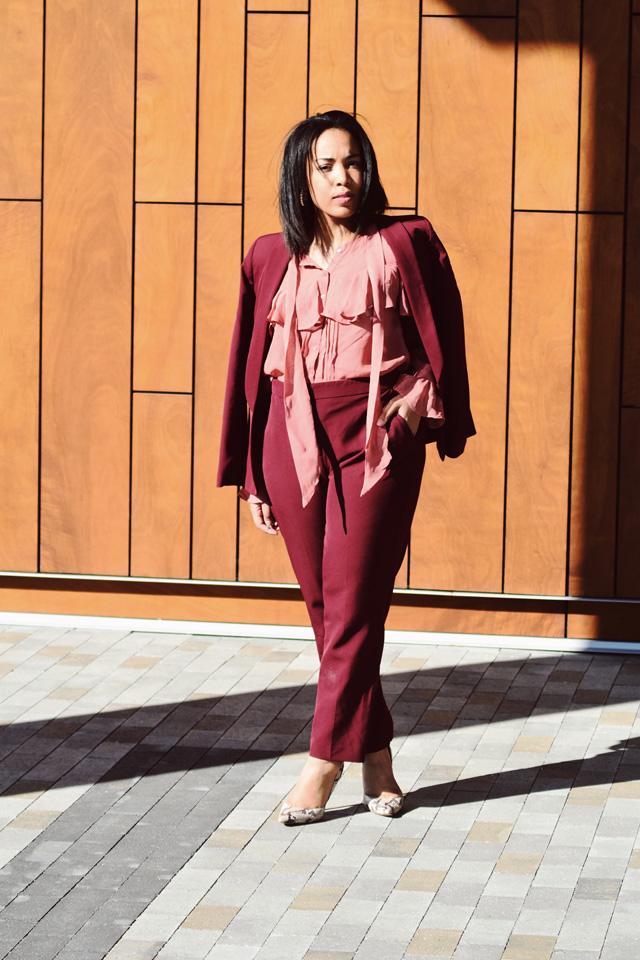 2-asos-burgundy-suit-asos-pink-ruffle-blouse-nine-west-snakeskin-pumps-workwear-fashion-suit.jpg