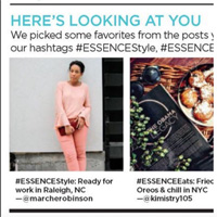 December 2016:  Essence Magazine Here's Looking At You