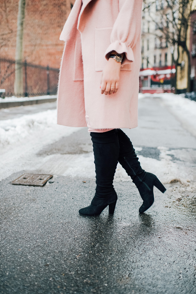 11-chicwish-blush-pink-coat-forever-21-pencil-dress-asos-black-coat-black-over-the-knee-boot-nyfw-streetstyle.jpg
