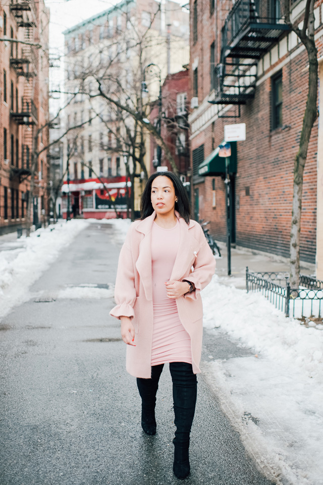 12-chicwish-blush-pink-coat-forever-21-pencil-dress-asos-black-coat-black-over-the-knee-boot-nyfw-streetstyle.jpg