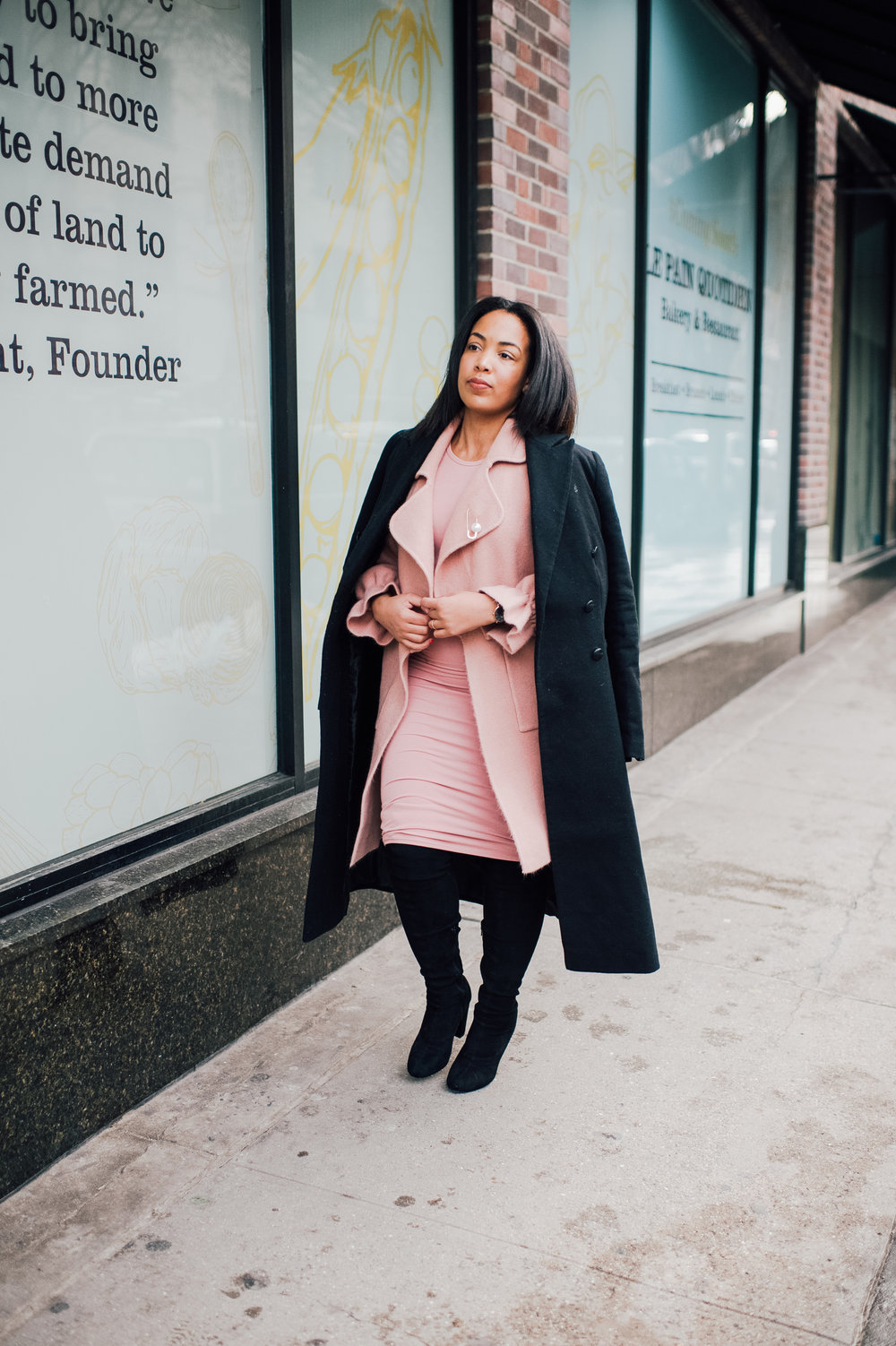 3-chicwish-blush-pink-coat-forever-21-pencil-dress-asos-black-coat-black-over-the-knee-boot-nyfw-streetstyle.jpg