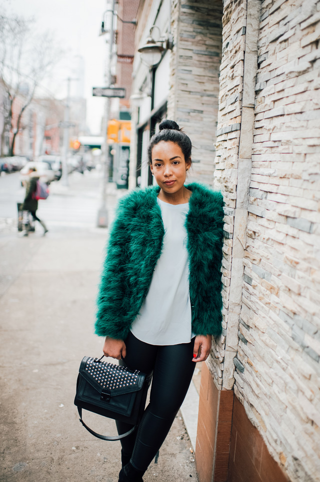 6-robinson-style-shop-emerald-faux-fur-jacket-faux-leather-pant-lou-and-grey-blouse-zara-booties-loeffler-rendall-studded-rider-bag-nyfw-streetstyle.jpg