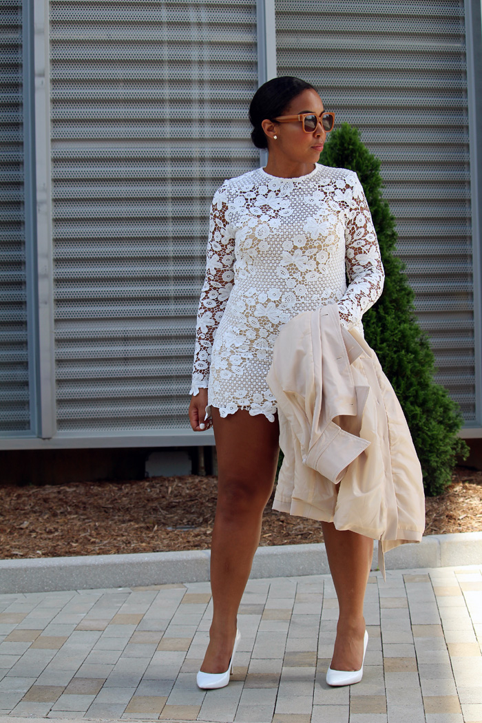 Robinson-Style-Shop-Trench-and-Long-Sleeve-Lace-Mini-Dress-BCBG-pumps-Banana-Republic-sunglasses-7.jpg