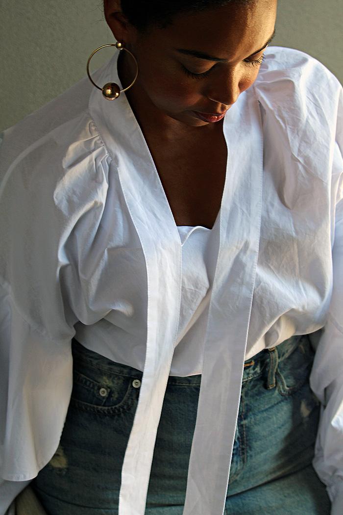 Robinson-Style-Shop-Oversized-Ruffle-Blouse-Gap-Denim-Mini-Skirt-Forever-21-leather-lace-up-sandals-Forever-21-ball-hoop-earrings-6.jpg