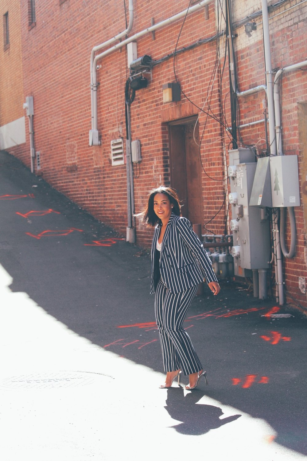 banana-republic-stripe-double-breasted-blazer-pant-river-island-ankle-wrap-sandal-robinson-style-shop-lace-bodysuit-3
