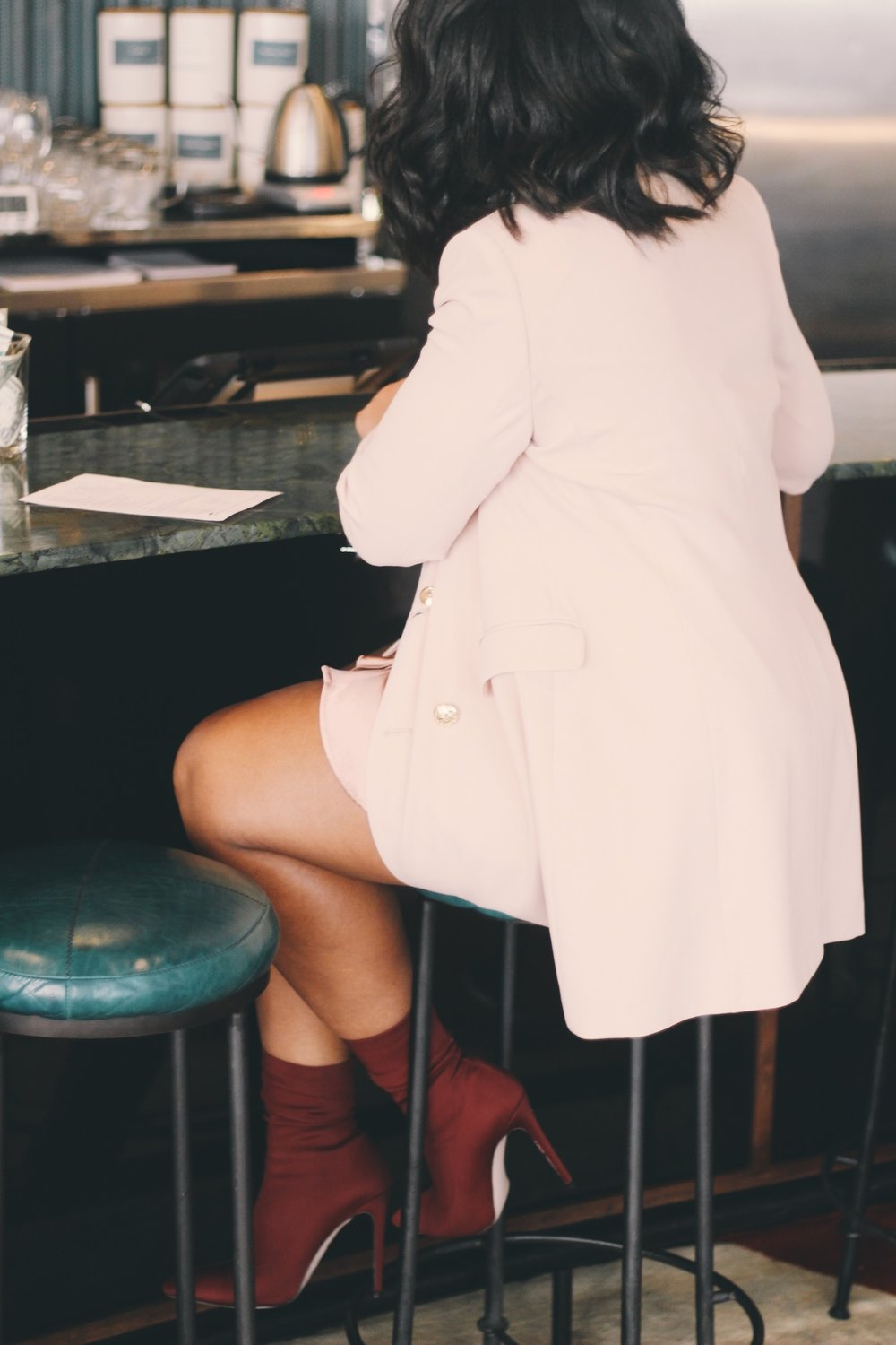 Durham-Hotel-Robinson-Style-Zara-blazer-dress-ruffle-shirt-dress-raid-asos-sock-boots-2.JPG