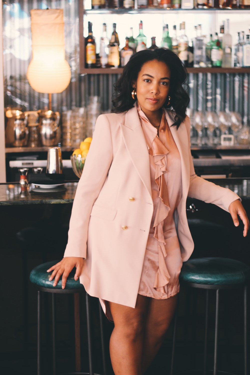 Durham-Hotel-Robinson-Style-Zara-blazer-dress-ruffle-shirt-dress-raid-asos-sock-boots-5.JPG