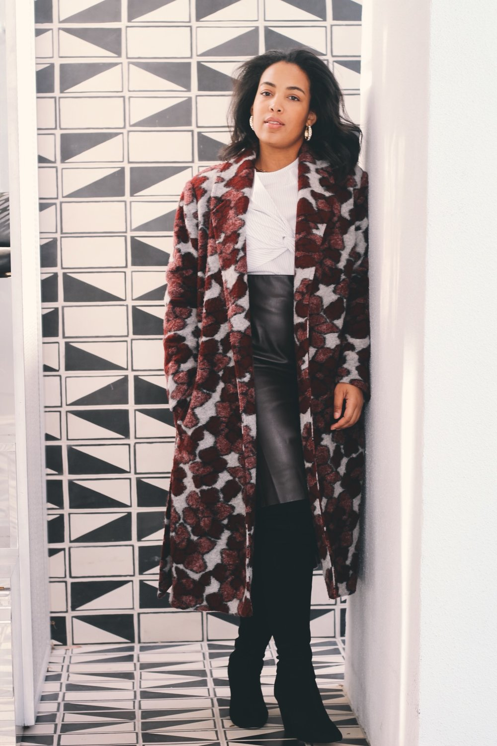 Durham-Hotel-Robinson-Style-rent-the-runway-hutch-floral-coat-milly-stripe-top-loft-leather-pencil-skirt-asos-over-the-knee-boot.JPG-5.JPG