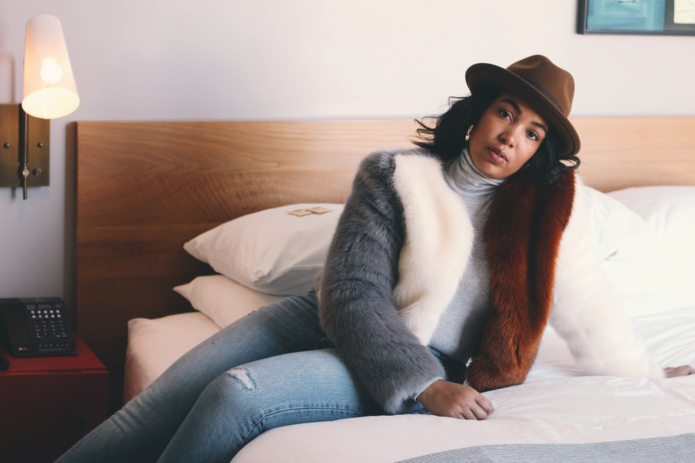 Durham-Hotel-Robinson-Style-rent-the-runway-line-and-dot-faux-fur-coat-levi-501s-zara-zip-booties-goorin-brothers-hat-aerie-turtleneck-bodysuit-5.JPG