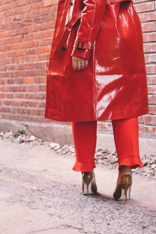 ann-taylor-ruffle-pant-cold-shoulder-tie-blouse-asos-vinyl-trench-coat-house-of-cb-paris-pumps-in-mocha-monochrome-outfit.JPG