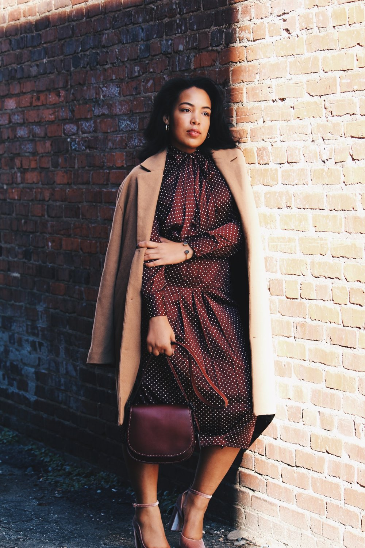 Zara-polka-dot-blouse-and-skirt-urban-outfitters-camel-coat-coach-saddle-bag-topshop-gracie-velvet-heels-similar-aquazurra-alix-pumps-womens-workwear-fashion-10.JPG