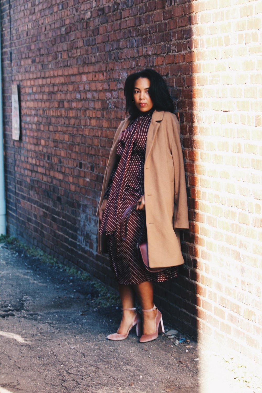 Zara-polka-dot-blouse-and-skirt-urban-outfitters-camel-coat-coach-saddle-bag-topshop-gracie-velvet-heels-similar-aquazurra-alix-pumps-womens-workwear-fashion-13.JPG