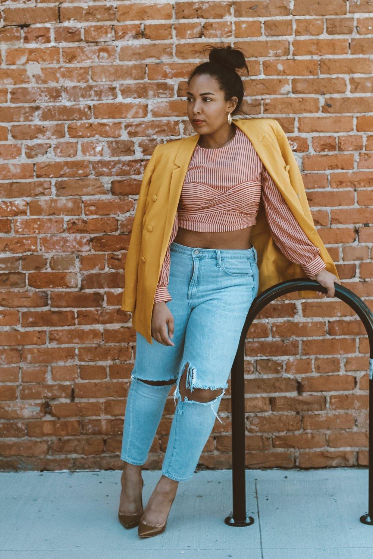 Chriselle-lim-and-Joa-top-river-island-blazer-gap-denim-jeans-house-of-CB-paris-pumps-heels-9.JPG