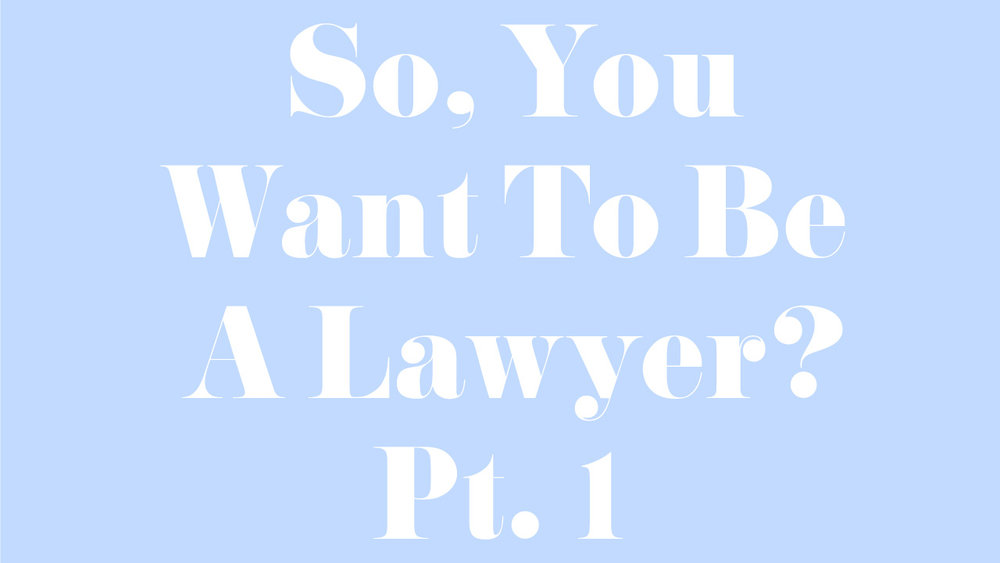 SO You WANT TO BE A LAWYER? PT. 1 -