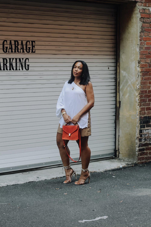 ASOS-weekday-one-shoulder-blouse-patent-nude-mini-skirt-zara-orange-suede-bag-simmi-shoes-veronica-snakeskin-heels-4.JPG