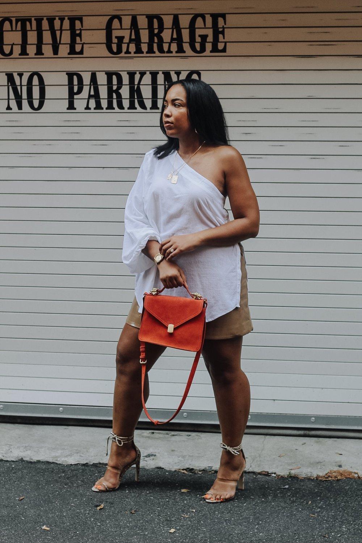 ASOS-weekday-one-shoulder-blouse-patent-nude-mini-skirt-zara-orange-suede-bag-simmi-shoes-veronica-snakeskin-heels-8.JPG